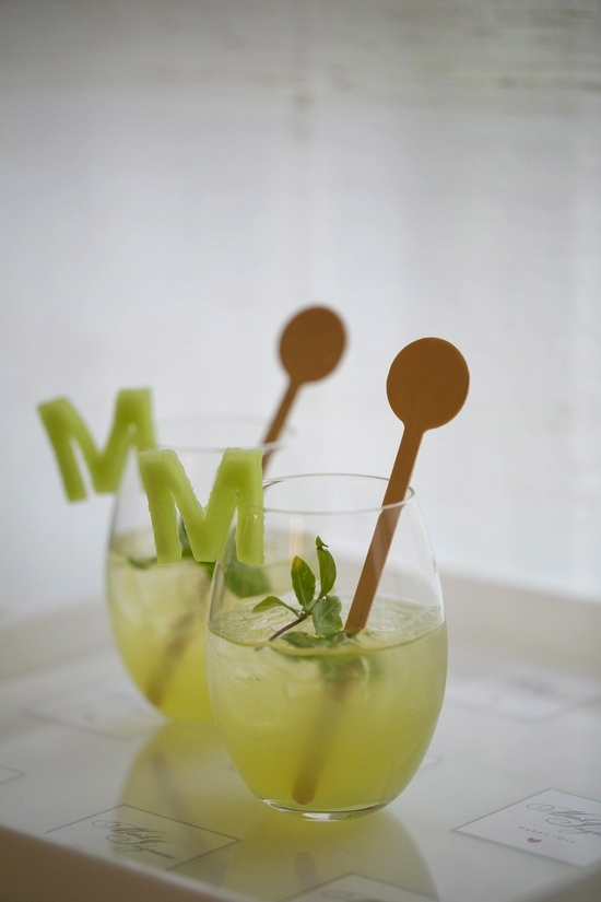 Darcy Miller Designs monogram drink garnish