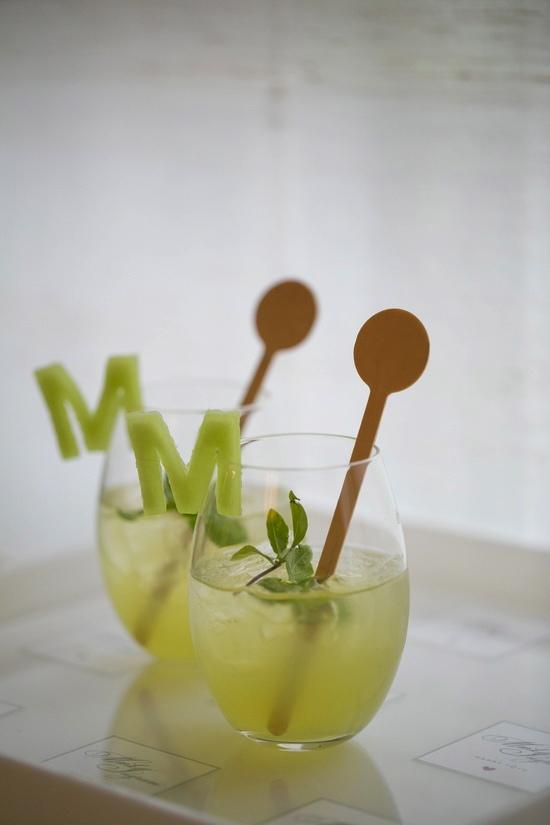 Darcy Miller Designs monogram drink garnish
