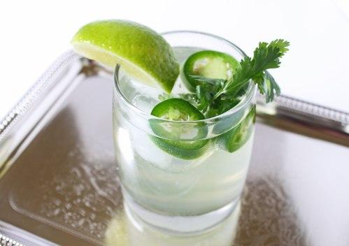 lime cilantro jalapeno water