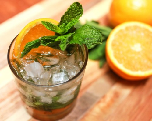 orange mint water