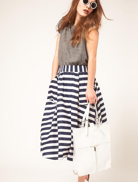Asos stripe skirt