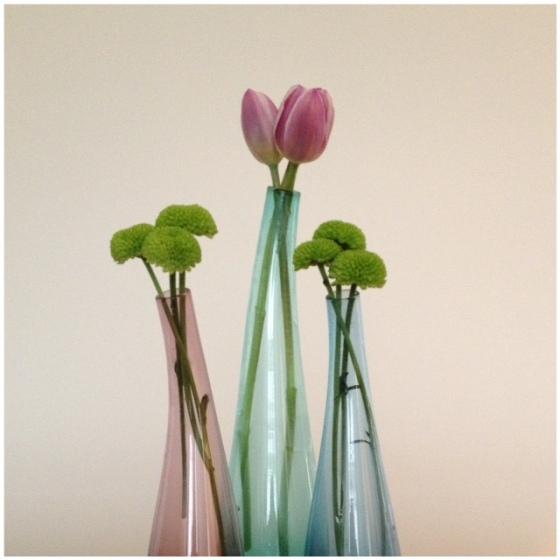 florals - tri vase