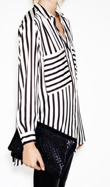 stripes - silk blouse