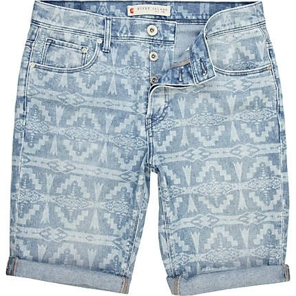 River Island Navajo denim shorts