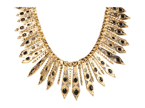 necklaces - gold feather (house of harlow)