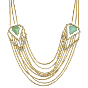 necklaces - gold n green (alexis bittar)