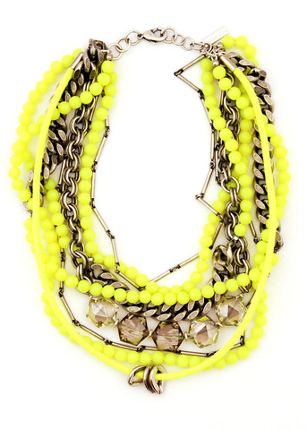necklaces - yellow (lauren elan)