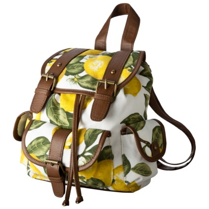 Xhilaration lemon print backpack
