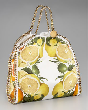 Stella McCartney Falabella fruit print tote