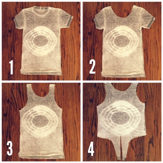 steps for making a DIY cropped tank