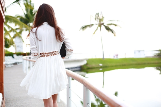 Style Scrapbook white cutout dress