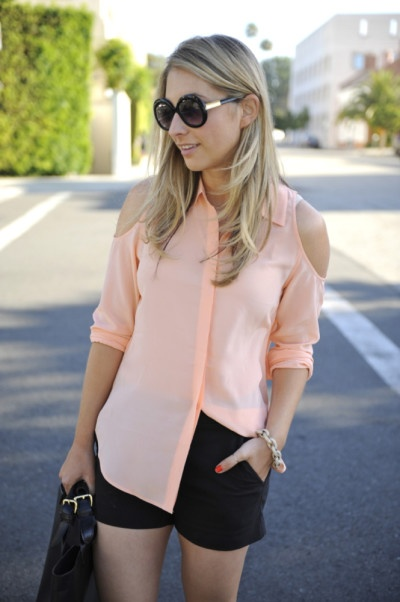 Cupcakes and Cashmere cutout top