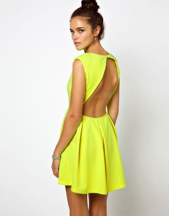 Riches for Rags cutout neon dress