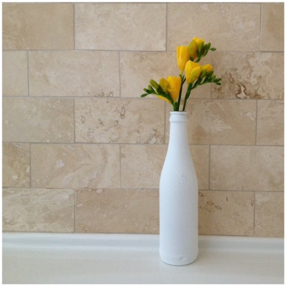 DIY beer bottle bud vase