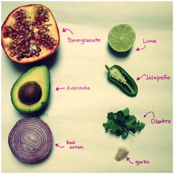pomegranate guacamole ingredients