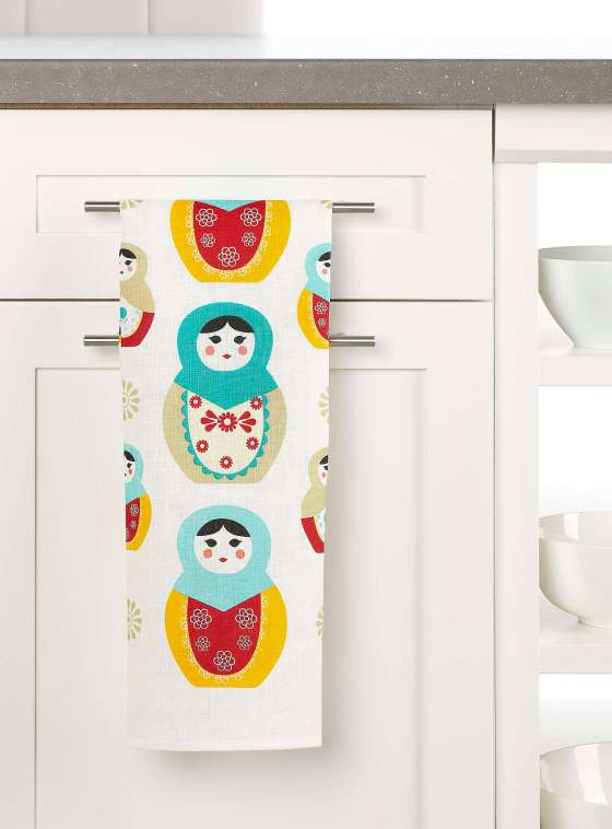 Matryoshka tea towel