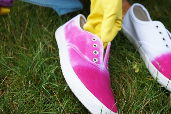ombre dip dyed shoes