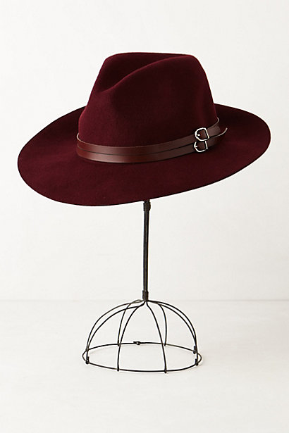 Anthropologie Leather Trimmed Rancher Hat