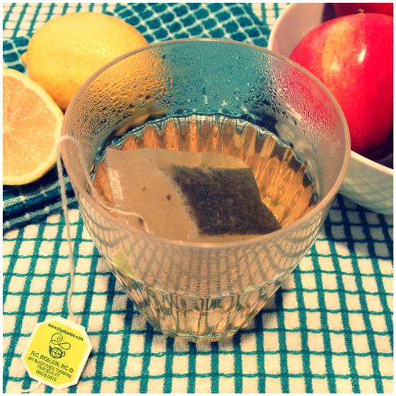 Fall Cocktail - Hot Tea and Apple Toddy