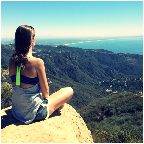 meditation on cliff