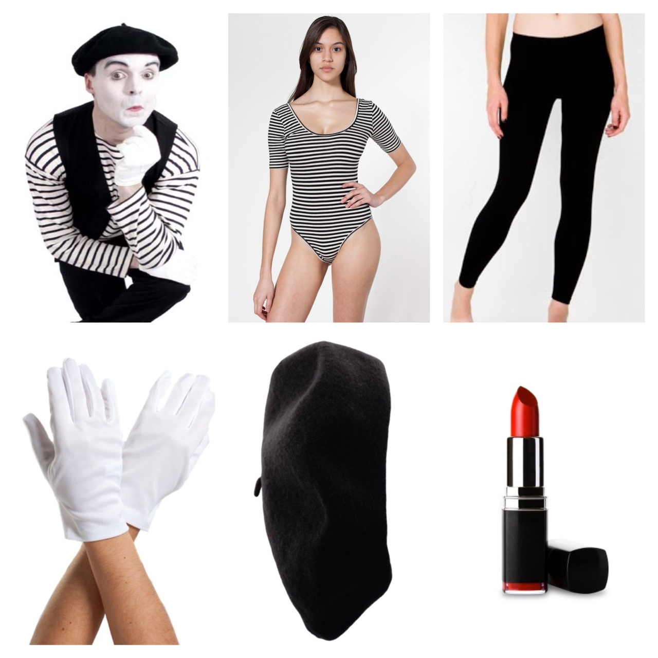 mime costume  sc 1 st  Mint Sprinkles & 8 Last Minute Halloween Costume Ideas | Mint Sprinkles