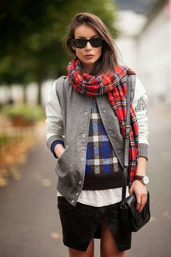 LNA Blog plaid scarf
