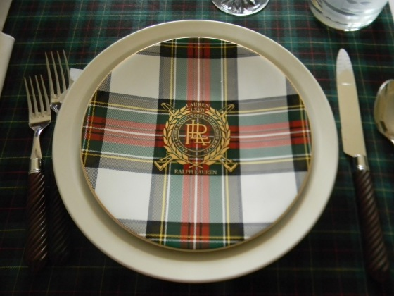 Ralph Lauren plaid dishes