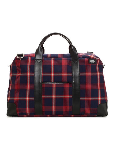 Jack Spade plaid weekend bag