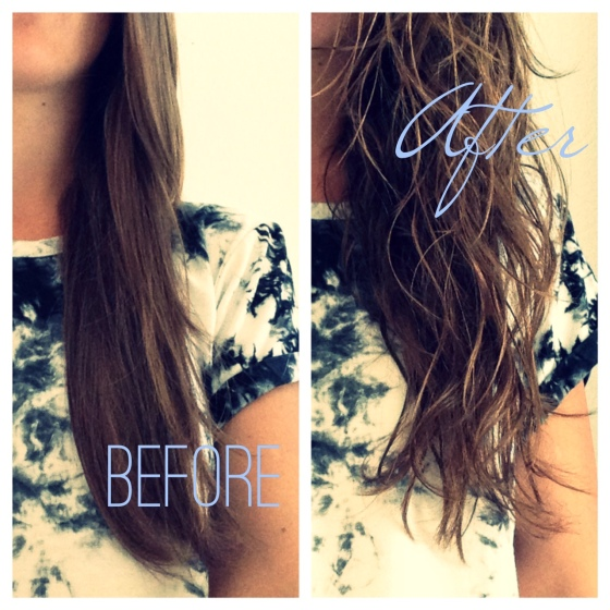 DIY beach waves hair spray