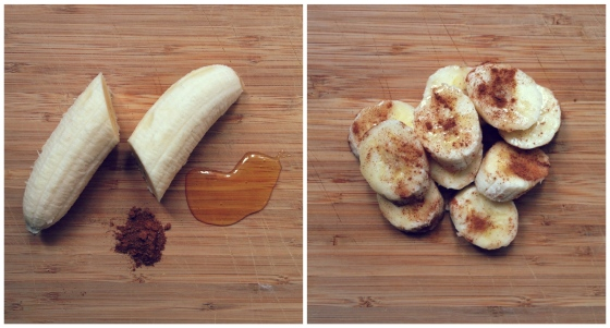 Healthy Snacks - Banana, Honey, Cinnamon
