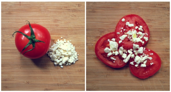 Healthy Snacks - Tomato, Feta Cheese, Olive Oil
