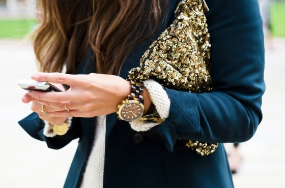 zara gold sequin clutch