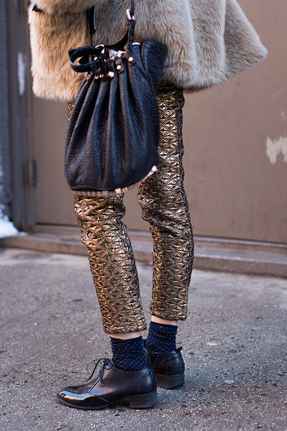 gold brocade pants