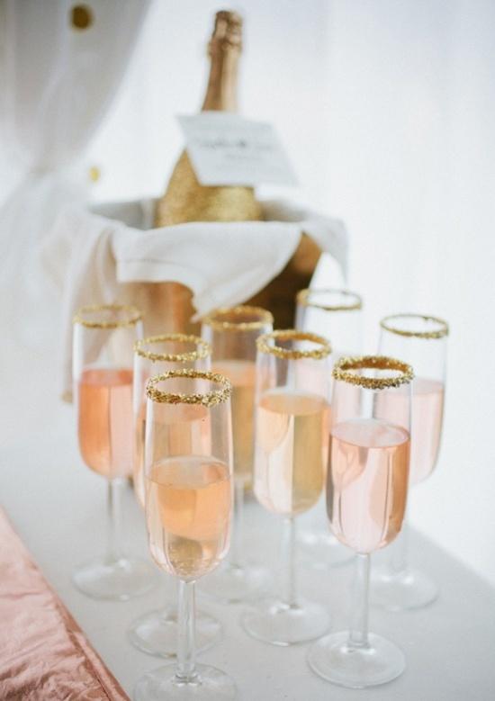 gold rim champagne