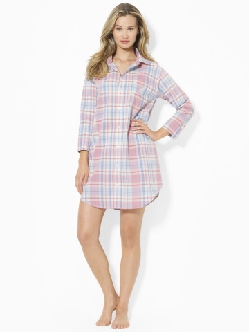 Ralph Lauren Plaid Flannel Sleep Shirt