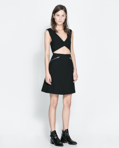 Zara studio dress with zips