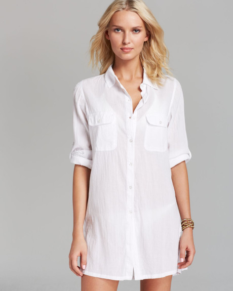 Ralph Lauren camp shirt beach cover-up
