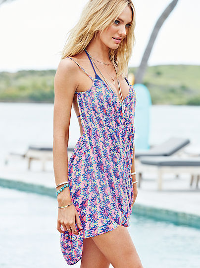 Victoria's Secret wrap cover-up palm trees