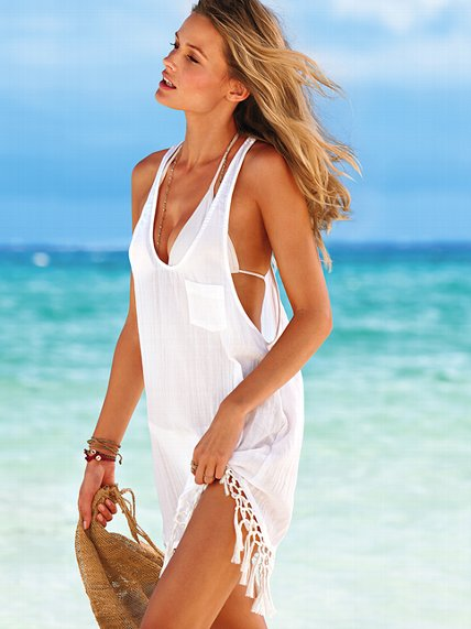 Victoria's Secret beach sexy tassel cover-up