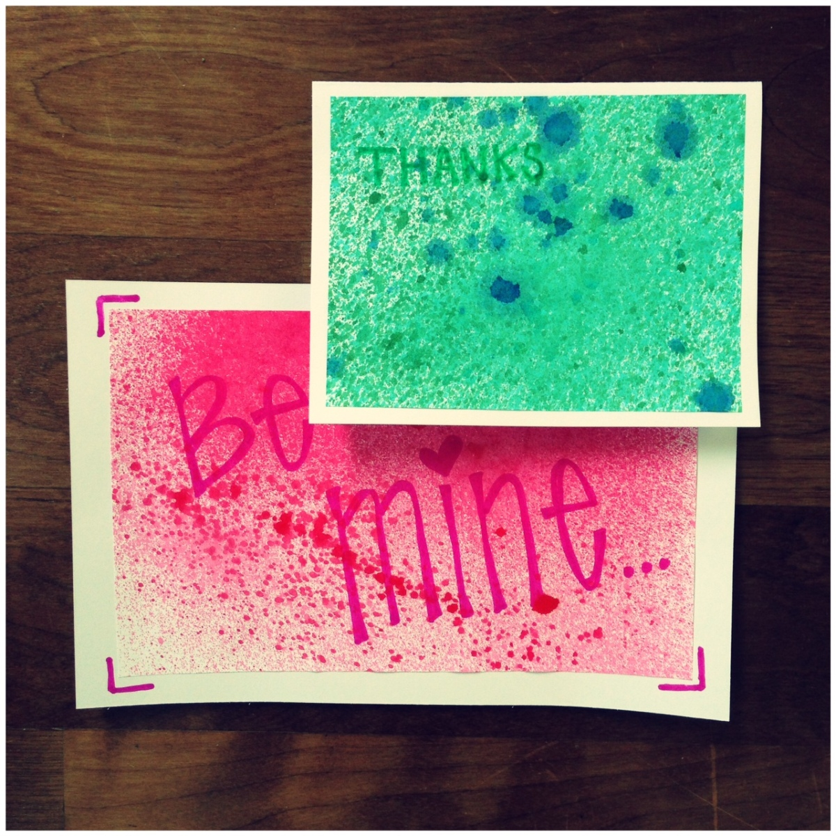 DIY Tie-Dye Greeting Cards