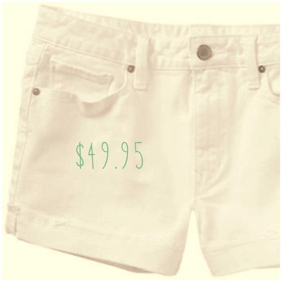 Gap maddie white jean shorts