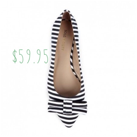 Sole Society Kameko black white pointed flats
